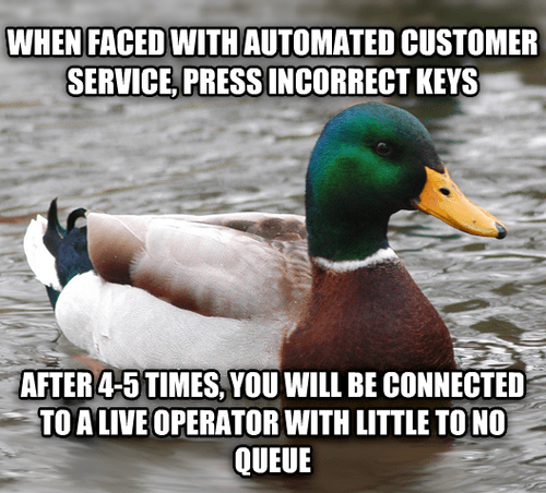 customer service,Actual Advice Mallard,Memes
