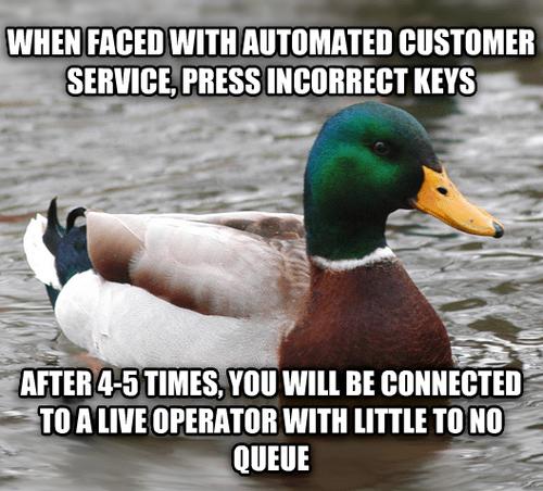 customer service Actual Advice Mallard Memes - 7733129728