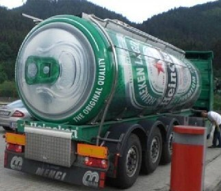 advertising beer can truck funny - 7733188096