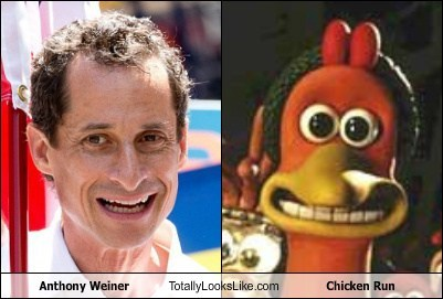 totally looks like,chicken run,Anthony Weiner,funny
