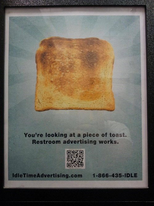 advertising burnt toast toast
