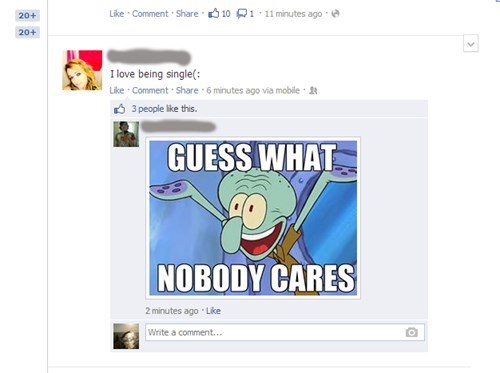 single life nobody cares Breaking News squidward