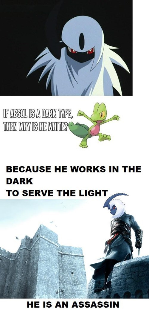 Pokémon,absol,assassins creed