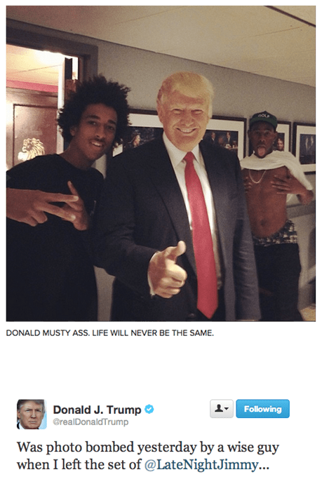 photobomb donald trump Tyler The Creator - 7733319680