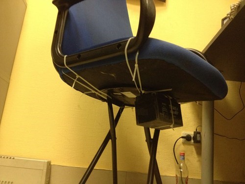 office chair zip ties funny there I fixed it stool
