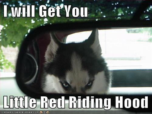 fairy tales car Little Red Riding Hood funny - 7734147840