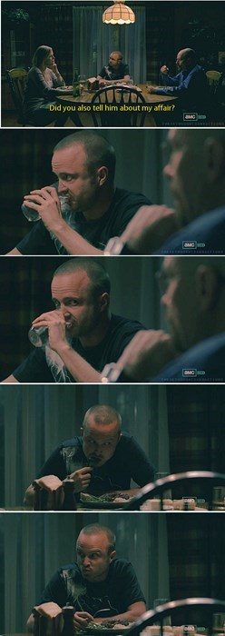 aaron paul breaking bad Jesse dinner party - 7734303232
