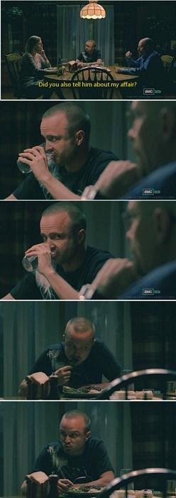 aaron paul breaking bad Jesse dinner party - 7734303232