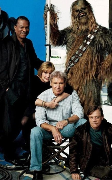 star wars,chewbacca,carrie fisher,Billy Dee Williams,Harrison Ford,Mark Hamill
