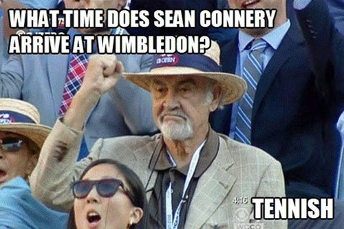tennis tennish sean connery - 7734405632