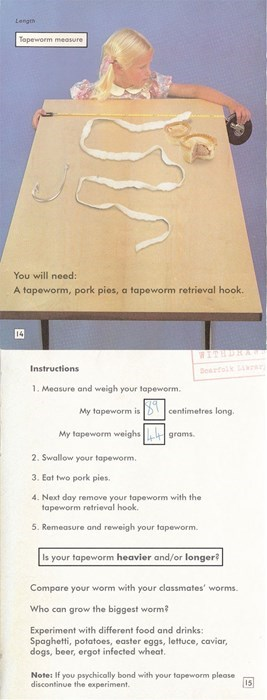 eww tapeworm Fake Science funny - 7734452992