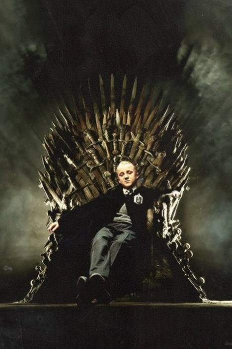 Harry Potter Game of Thrones draco malfoy iron throne