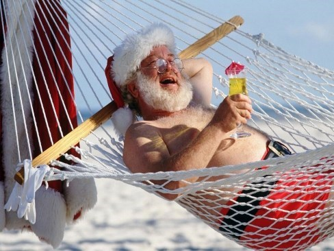 summer santa winter funny cocktail - 7734647552