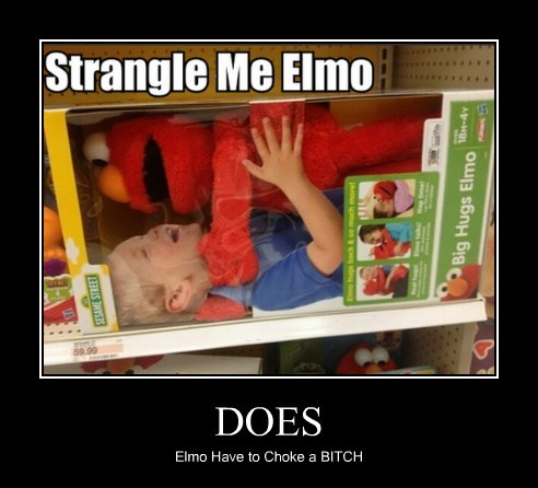 wtf kids choking elmo - 7734663424
