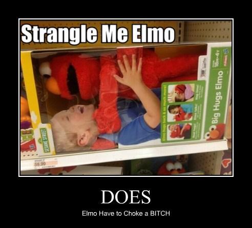 wtf kids choking elmo - 7734663424