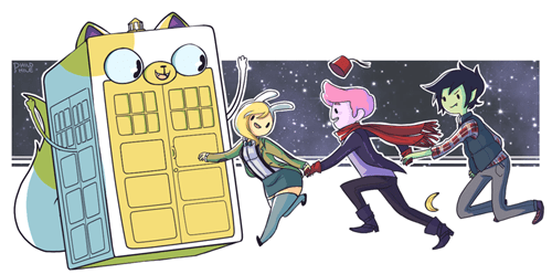 crossover Fan Art doctor who adventure time