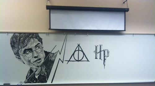 Harry Potter whiteboard nerdgasm funny - 7734811392
