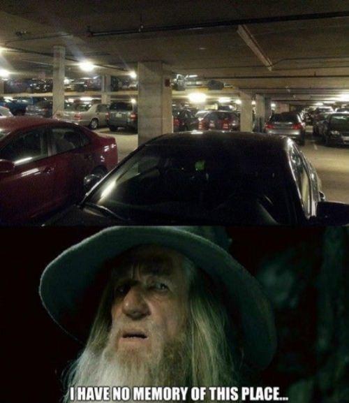 gandalf Memes parking - 7734892800