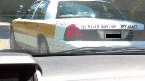 cops cars spelling funny - 7734935808