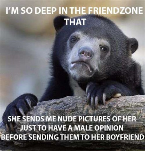 forever alone friendzone Confession Bear funny dating - 7734938880