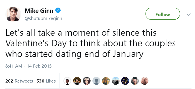 singles funny tweets Valentines day - 7735301
