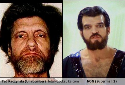 Ted Kaczynski totally looks like non beards funny superman