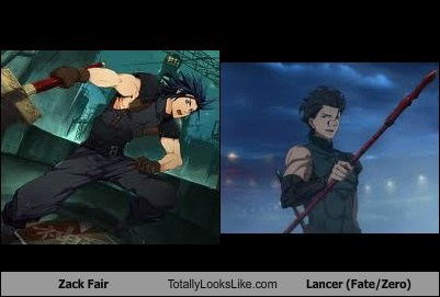 zack fair,lancer,totally looks like,funny