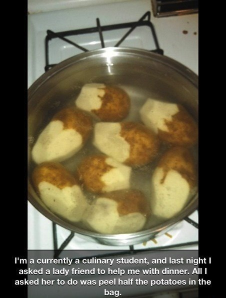 cooking,idiots,funny,potatoes,g rated,School of FAIL