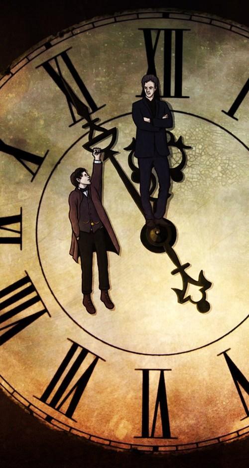 Fan Art 12th Doctor doctor who clock - 7736284416