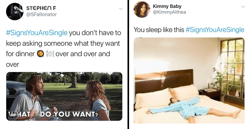 Funny memes and tweets about being single, valentine's day, sleep, sleeping.