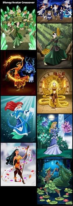 princess crossover disney Avatar - 7736334848