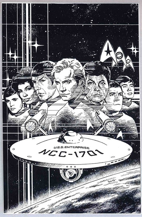 bones TOS Spock Fan Art Star Trek james t kirk - 7736337664
