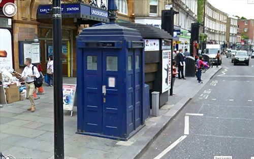 google maps,IRL,easter eggs,tardis,doctor who