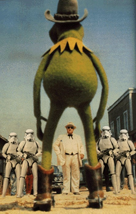 kermit the frog,star wars,mash up,stromtroopers