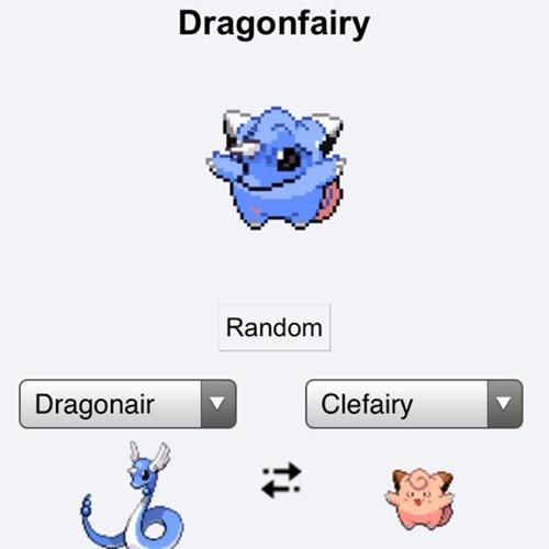 dragonair,pokemon fusions,clefairy