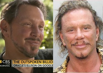 larry ellison,totally looks like,funny,mickey rourke