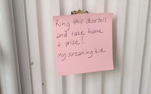 doorbell parenting notes funny g rated - 7736488960