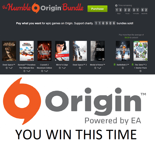 humble bundle Video Game Coverage EA origin - 7736620544