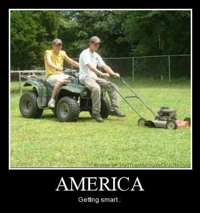 smart america lawnmower riding funny