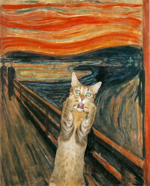 The Scream,painting,funny