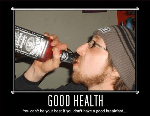 breakfast healthy booze whiskey funny - 7736738560