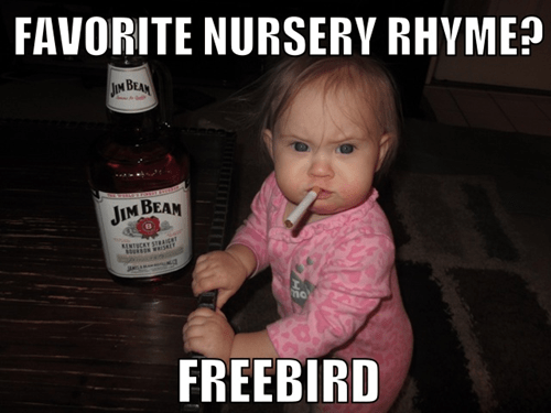 wtf freebird kids whiskey funny - 7736799488
