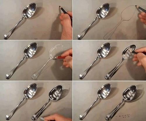 spoon art funny illusion - 7736809472