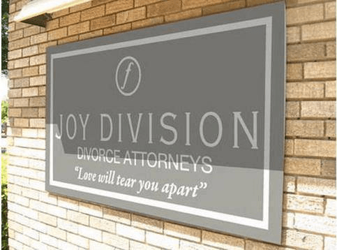 sign,joy division,divorce,funny,g rated,dating
