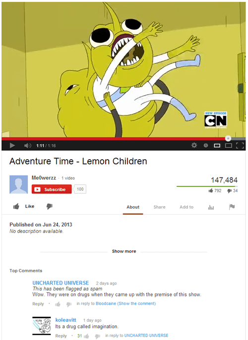 comments youtube cartoons adventure time - 7736852992