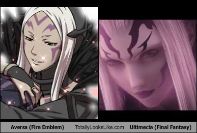 aversa,final fantasy,fire emblem,totally looks like,ultimecia,funny