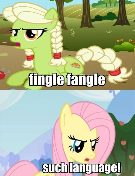 fingle fangle granny smith fluttershy - 7736928512