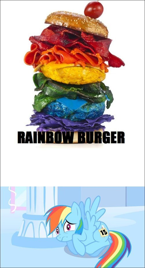 rainbow burger rainbow dash - 7737036288