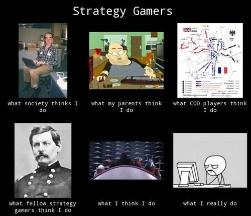 what people think i do,strategy games,gamers
