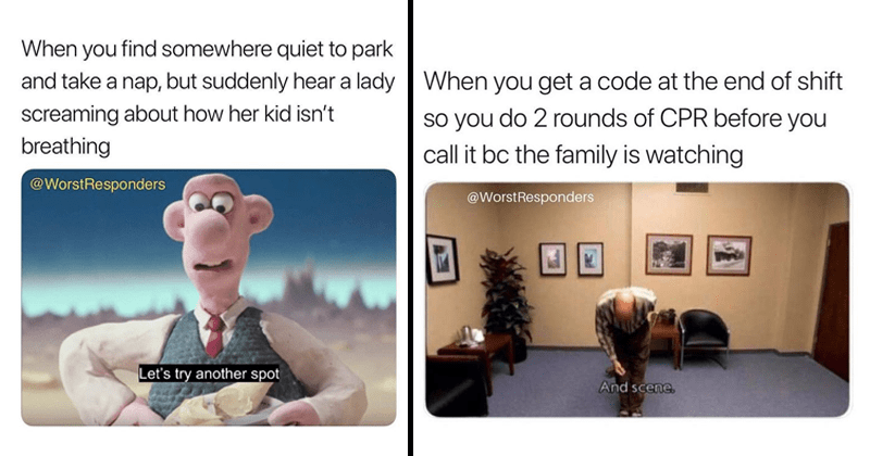 Funny memes about being an EMT, EMS, paramedic.